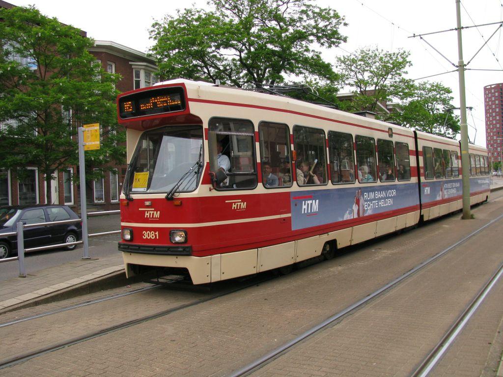 (160k, 1024x768)<br><b>Country:</b> The Netherlands<br><b>City:</b> The Hague<br><b>System:</b> HTM (Haagsche Tramweg Maatschappij)<br><b>Location:</b> Oudemansstraat<br><b>Route:</b> NS-tram<br><b>Car:</b> HTM GLT-8-1 3081  <br><b>Photo by:</b> Jos Straathof<br><b>Date:</b> 5/23/2009<br><b>Viewed (this week/total):</b> 0 / 385