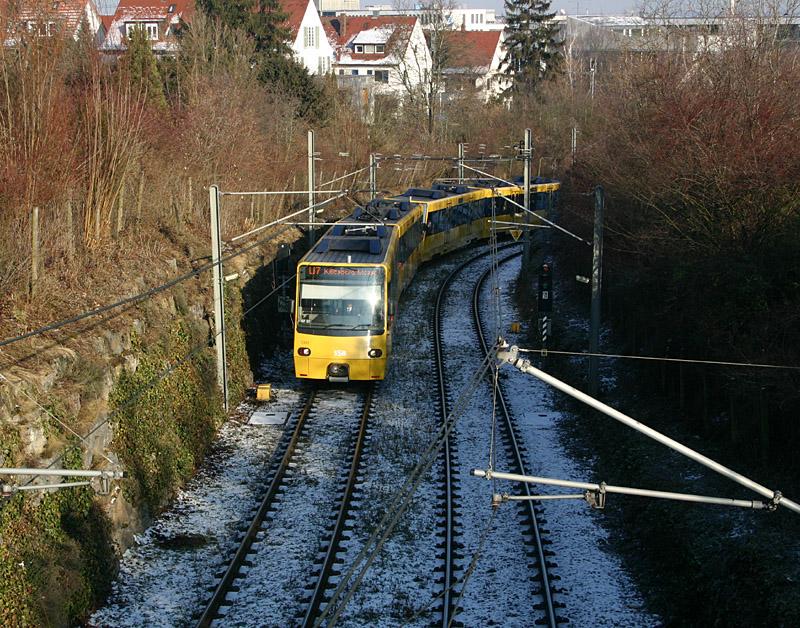 (281k, 800x628)<br><b>Country:</b> Germany<br><b>City:</b> Stuttgart<br><b>System:</b> SSB (Stuttgarter Strassenbahnen)<br><b>Line:</b> Stadtbahn U7/U8/U15<br><b>Location:</b> Killesberg Messe<br><b>Photo by:</b> Matthias Frey<br><b>Date:</b> 1/13/2006<br><b>Notes:</b> Between Killesberg and Eckartshaldenweg looking east<br><b>Viewed (this week/total):</b> 0 / 316