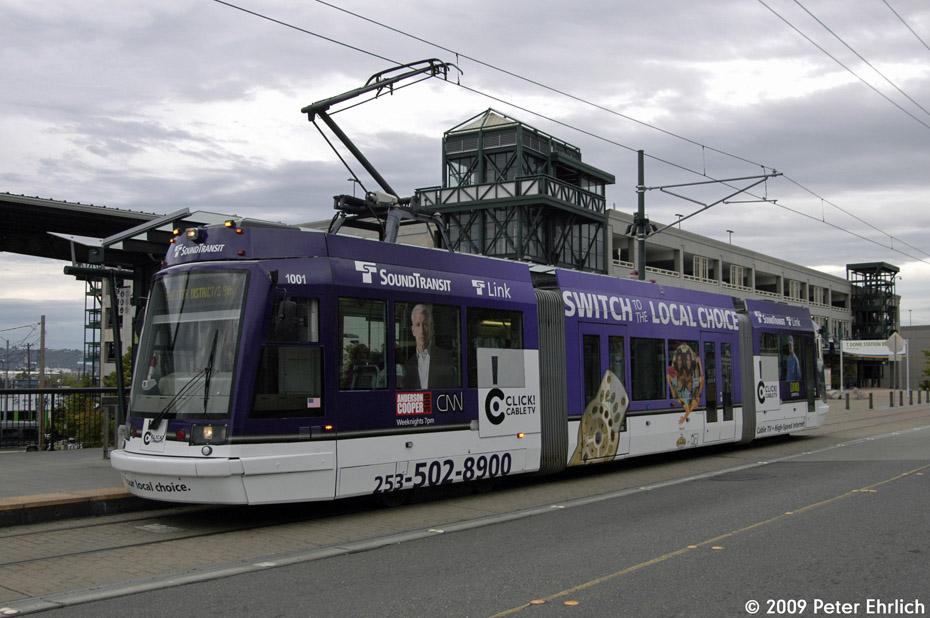 (187k, 930x618)<br><b>Country:</b> United States<br><b>City:</b> Tacoma, WA<br><b>System:</b> SoundTransit - Tacoma Link Light Rail<br><b>Location:</b> Tacoma Dome<br><b>Car:</b> Škoda/Inekon Astra 10T 1001 <br><b>Photo by:</b> Peter Ehrlich<br><b>Date:</b> 9/16/2009<br><b>Viewed (this week/total):</b> 0 / 1189