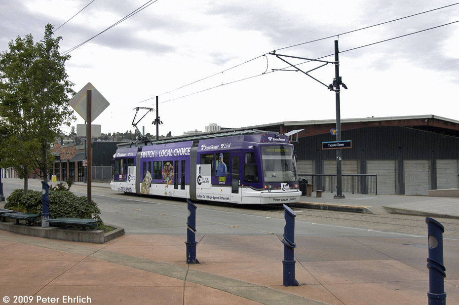 (185k, 930x618)<br><b>Country:</b> United States<br><b>City:</b> Tacoma, WA<br><b>System:</b> SoundTransit - Tacoma Link Light Rail<br><b>Location:</b> Tacoma Dome<br><b>Car:</b> Škoda/Inekon Astra 10T 1001 <br><b>Photo by:</b> Peter Ehrlich<br><b>Date:</b> 9/16/2009<br><b>Viewed (this week/total):</b> 0 / 1163