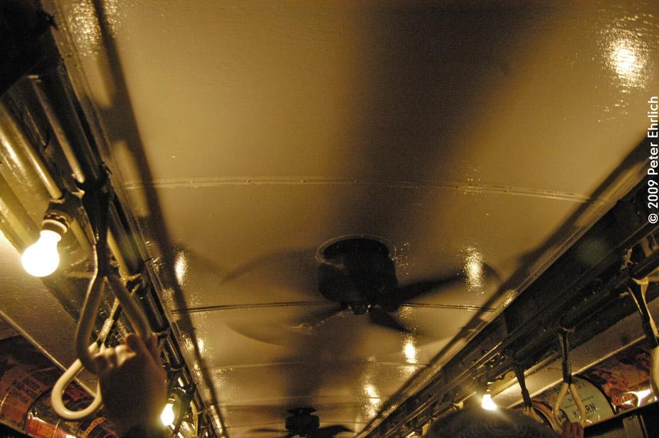 (216k, 930x618)<br><b>Country:</b> United States<br><b>City:</b> New York<br><b>System:</b> New York City Transit<br><b>Route:</b> Fan Trip<br><b>Car:</b> Low-V (Museum Train) 5292 <br><b>Photo by:</b> Peter Ehrlich<br><b>Date:</b> 10/9/2009<br><b>Notes:</b> Ceiling fans are working!<br><b>Viewed (this week/total):</b> 1 / 559