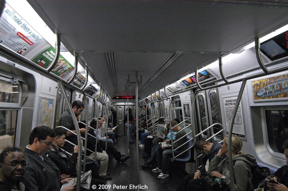 (244k, 930x618)<br><b>Country:</b> United States<br><b>City:</b> New York<br><b>System:</b> New York City Transit<br><b>Route:</b> Q<br><b>Car:</b> R-160B (Option 1) (Kawasaki, 2008-2009)  9000 <br><b>Photo by:</b> Peter Ehrlich<br><b>Date:</b> 10/9/2009<br><b>Viewed (this week/total):</b> 0 / 1029