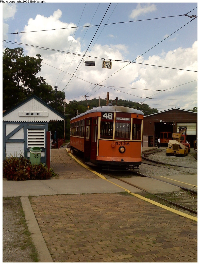 (254k, 788x1044)<br><b>Country:</b> United States<br><b>City:</b> Washington, PA<br><b>System:</b> Pennsylvania Trolley Museum<br><b>Car:</b> PTC 5236 <br><b>Photo by:</b> Bob Wright<br><b>Date:</b> 8/1/2009<br><b>Viewed (this week/total):</b> 1 / 981