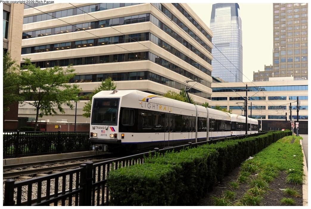 (240k, 1044x701)<br><b>Country:</b> United States<br><b>City:</b> Jersey City, NJ<br><b>System:</b> Hudson Bergen Light Rail<br><b>Location:</b> Harborside <br><b>Car:</b> NJT-HBLR LRV (Kinki-Sharyo, 1998-99)  2017 <br><b>Photo by:</b> Richard Panse<br><b>Date:</b> 10/9/2009<br><b>Viewed (this week/total):</b> 2 / 535