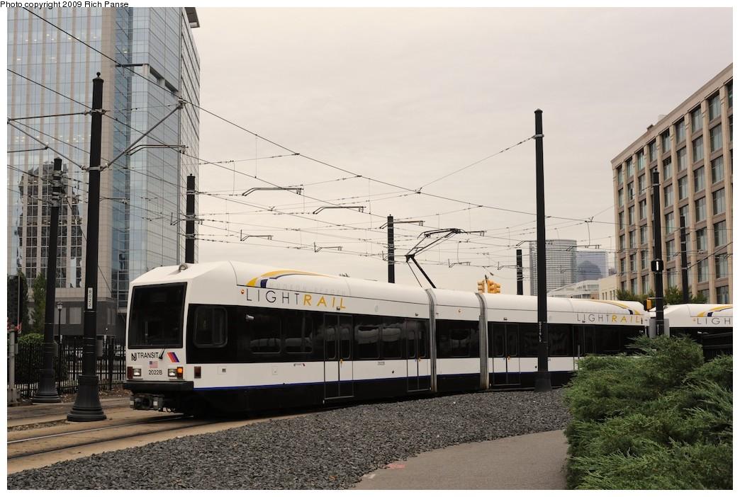 (201k, 1044x702)<br><b>Country:</b> United States<br><b>City:</b> Jersey City, NJ<br><b>System:</b> Hudson Bergen Light Rail<br><b>Location:</b> Harborside <br><b>Car:</b> NJT-HBLR LRV (Kinki-Sharyo, 1998-99)  2022 <br><b>Photo by:</b> Richard Panse<br><b>Date:</b> 10/9/2009<br><b>Viewed (this week/total):</b> 0 / 389