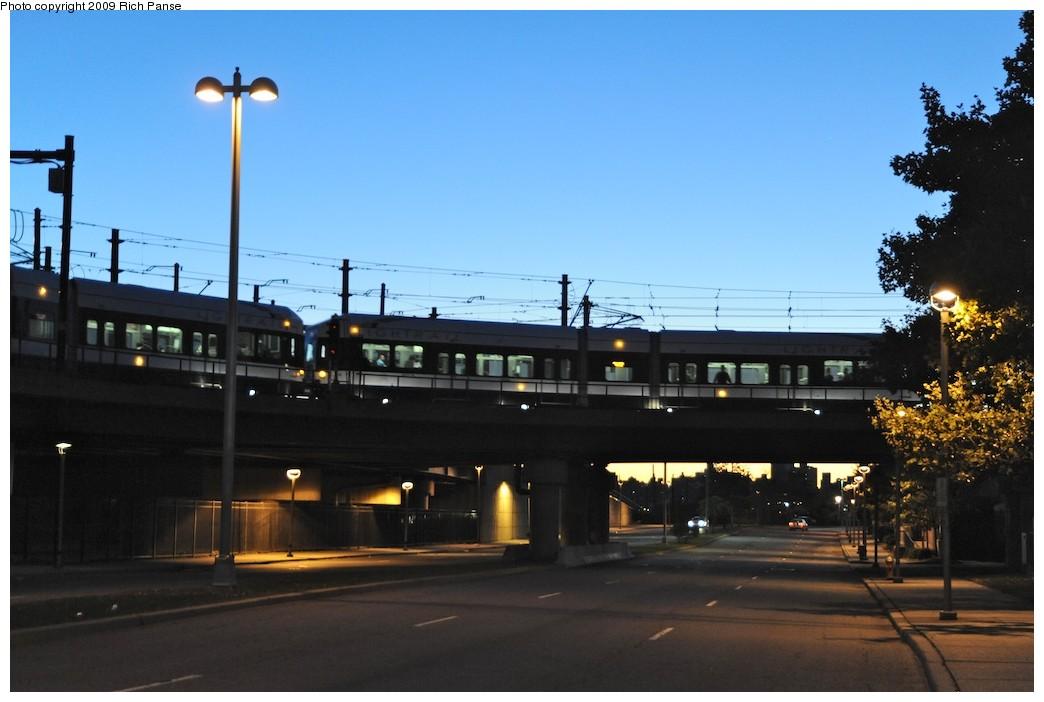 (143k, 1044x702)<br><b>Country:</b> United States<br><b>City:</b> Jersey City, NJ<br><b>System:</b> Hudson Bergen Light Rail<br><b>Location:</b> Between Newport & Hoboken <br><b>Photo by:</b> Richard Panse<br><b>Date:</b> 10/8/2009<br><b>Notes:</b> Hoboken Wye<br><b>Viewed (this week/total):</b> 0 / 453