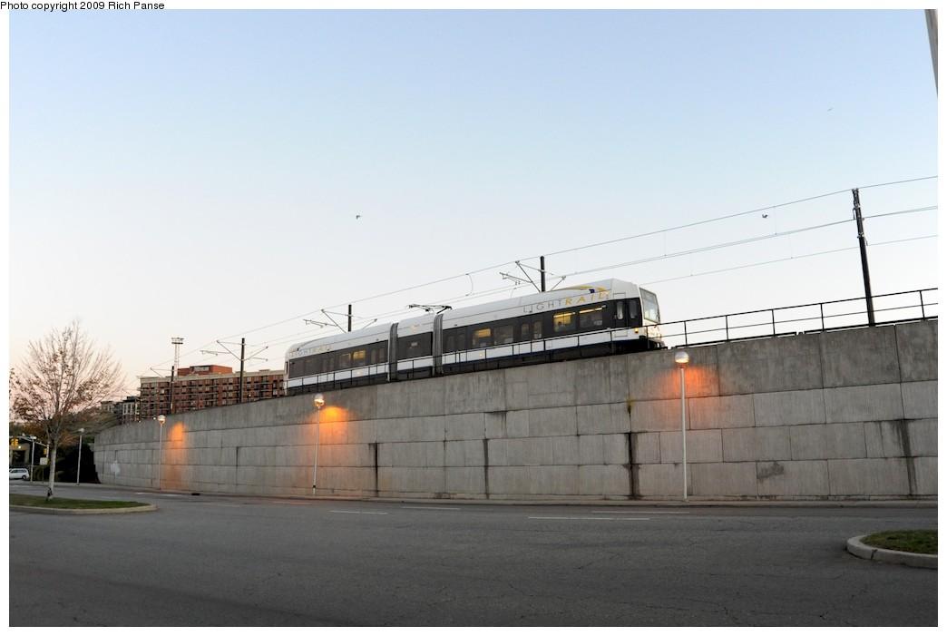 (120k, 1044x701)<br><b>Country:</b> United States<br><b>City:</b> Jersey City, NJ<br><b>System:</b> Hudson Bergen Light Rail<br><b>Location:</b> Between Newport & Hoboken <br><b>Car:</b> NJT-HBLR LRV (Kinki-Sharyo, 1998-99)  2029 <br><b>Photo by:</b> Richard Panse<br><b>Date:</b> 10/8/2009<br><b>Notes:</b> Hoboken Wye<br><b>Viewed (this week/total):</b> 1 / 365