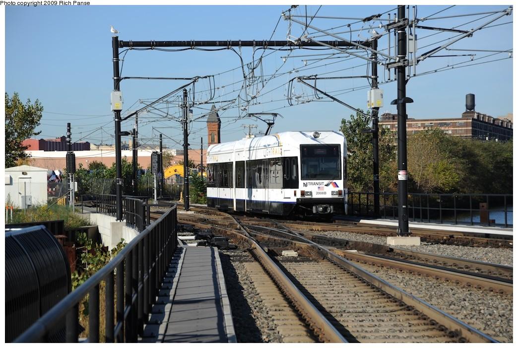 (230k, 1044x701)<br><b>Country:</b> United States<br><b>City:</b> Hoboken, NJ<br><b>System:</b> Hudson Bergen Light Rail<br><b>Location:</b> Hoboken <br><b>Car:</b> NJT-HBLR LRV (Kinki-Sharyo, 1998-99)  2008 <br><b>Photo by:</b> Richard Panse<br><b>Date:</b> 10/11/2009<br><b>Viewed (this week/total):</b> 0 / 547