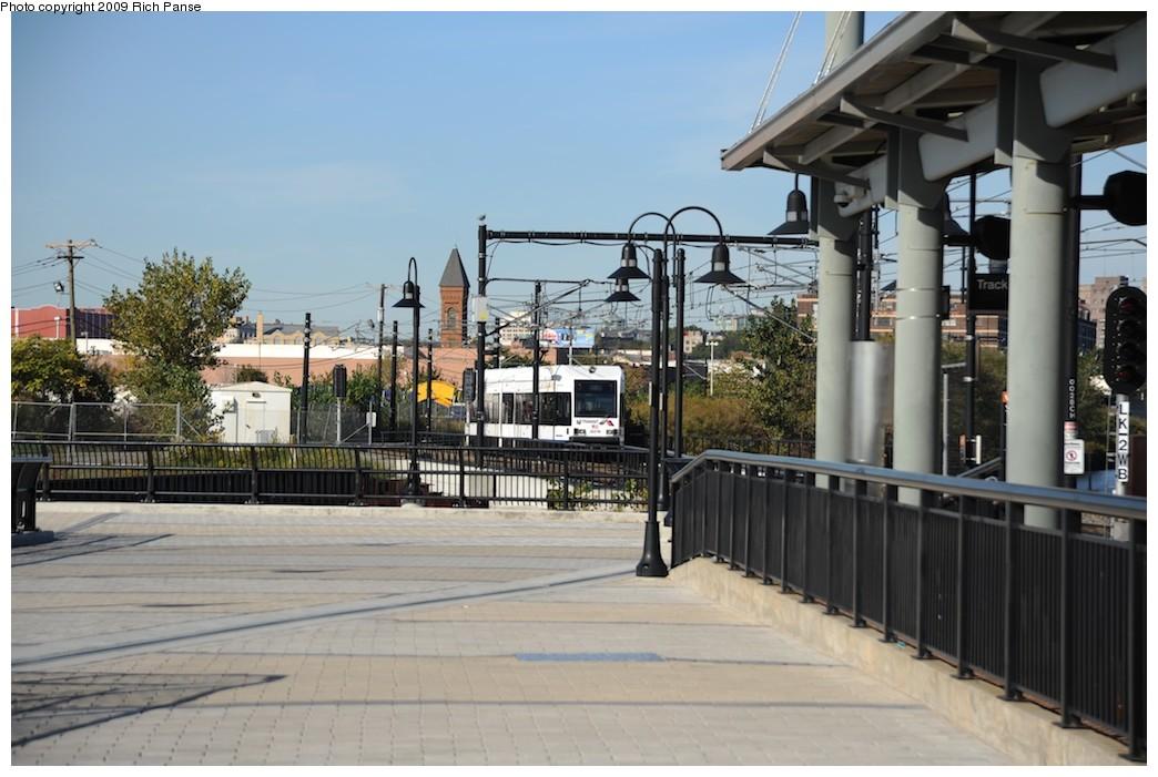 (172k, 1044x701)<br><b>Country:</b> United States<br><b>City:</b> Hoboken, NJ<br><b>System:</b> Hudson Bergen Light Rail<br><b>Location:</b> Hoboken <br><b>Photo by:</b> Richard Panse<br><b>Date:</b> 10/11/2009<br><b>Viewed (this week/total):</b> 2 / 484