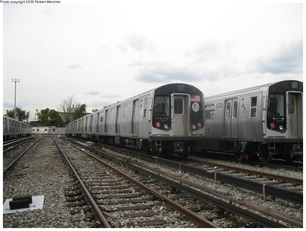 (203k, 1044x788)<br><b>Country:</b> United States<br><b>City:</b> New York<br><b>System:</b> New York City Transit<br><b>Location:</b> East New York Yard/Shops<br><b>Car:</b> R-160A-1 (Alstom, 2005-2008, 4 car sets)  8356 <br><b>Photo by:</b> Robert Mencher<br><b>Date:</b> 10/14/2009<br><b>Viewed (this week/total):</b> 0 / 611
