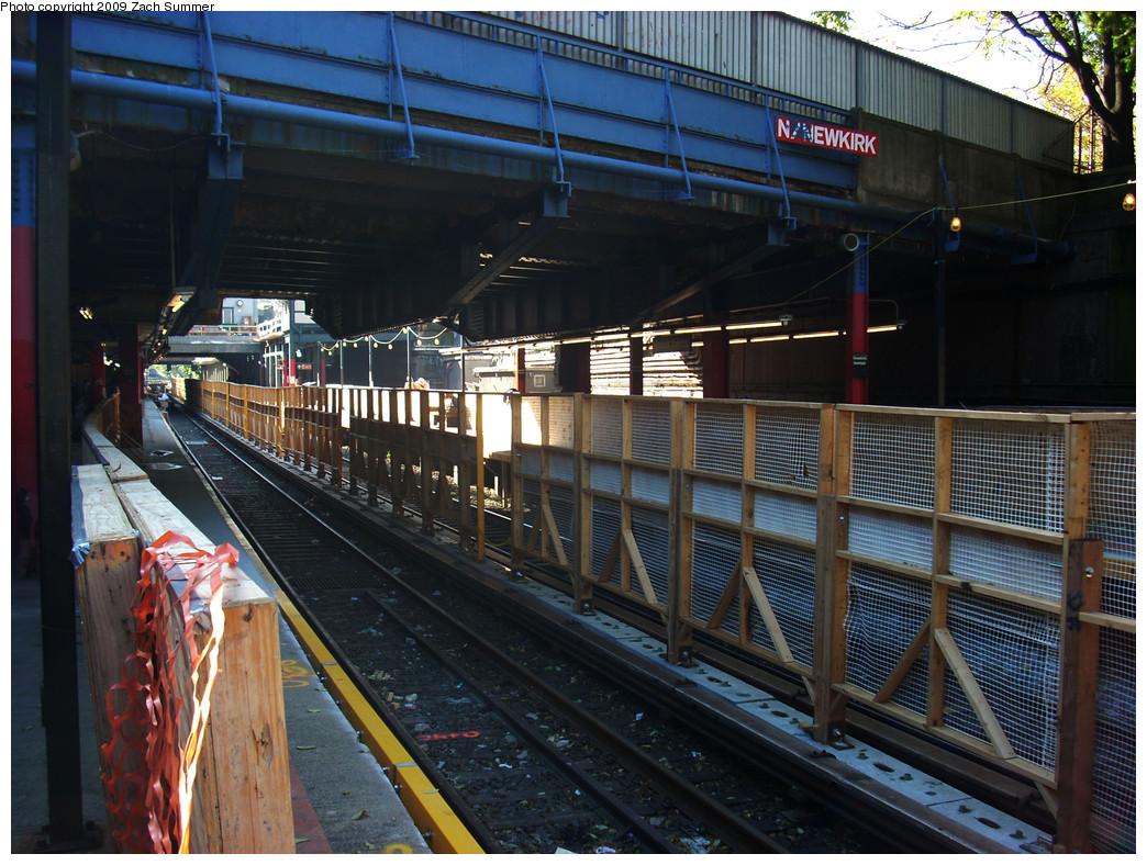(323k, 1044x788)<br><b>Country:</b> United States<br><b>City:</b> New York<br><b>System:</b> New York City Transit<br><b>Line:</b> BMT Brighton Line<br><b>Location:</b> Newkirk Plaza (fmrly Newkirk Ave.) <br><b>Photo by:</b> Zach Summer<br><b>Date:</b> 10/22/2009<br><b>Notes:</b> Station Reconstruction<br><b>Viewed (this week/total):</b> 0 / 830