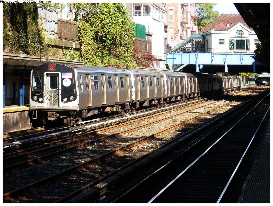 (408k, 1044x788)<br><b>Country:</b> United States<br><b>City:</b> New York<br><b>System:</b> New York City Transit<br><b>Line:</b> BMT Brighton Line<br><b>Location:</b> Cortelyou Road <br><b>Route:</b> Q<br><b>Car:</b> R-160B (Kawasaki, 2005-2008)  8807 <br><b>Photo by:</b> Zach Summer<br><b>Date:</b> 10/22/2009<br><b>Viewed (this week/total):</b> 1 / 1255
