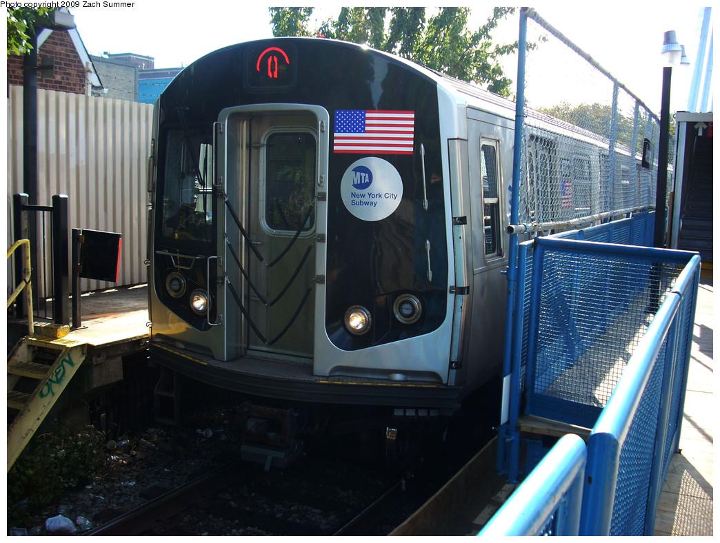 (299k, 1044x788)<br><b>Country:</b> United States<br><b>City:</b> New York<br><b>System:</b> New York City Transit<br><b>Line:</b> BMT Brighton Line<br><b>Location:</b> Avenue J <br><b>Route:</b> Q<br><b>Car:</b> R-160B (Kawasaki, 2005-2008)  8797 <br><b>Photo by:</b> Zach Summer<br><b>Date:</b> 10/22/2009<br><b>Viewed (this week/total):</b> 0 / 1087