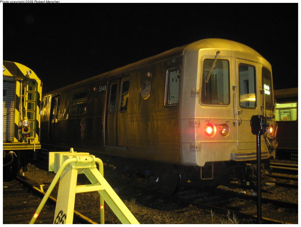 (203k, 1044x788)<br><b>Country:</b> United States<br><b>City:</b> New York<br><b>System:</b> New York City Transit<br><b>Location:</b> Jamaica Yard/Shops<br><b>Car:</b> R-46 (Pullman-Standard, 1974-75) 5548 <br><b>Photo by:</b> Robert Mencher<br><b>Date:</b> 11/3/2009<br><b>Viewed (this week/total):</b> 4 / 1070