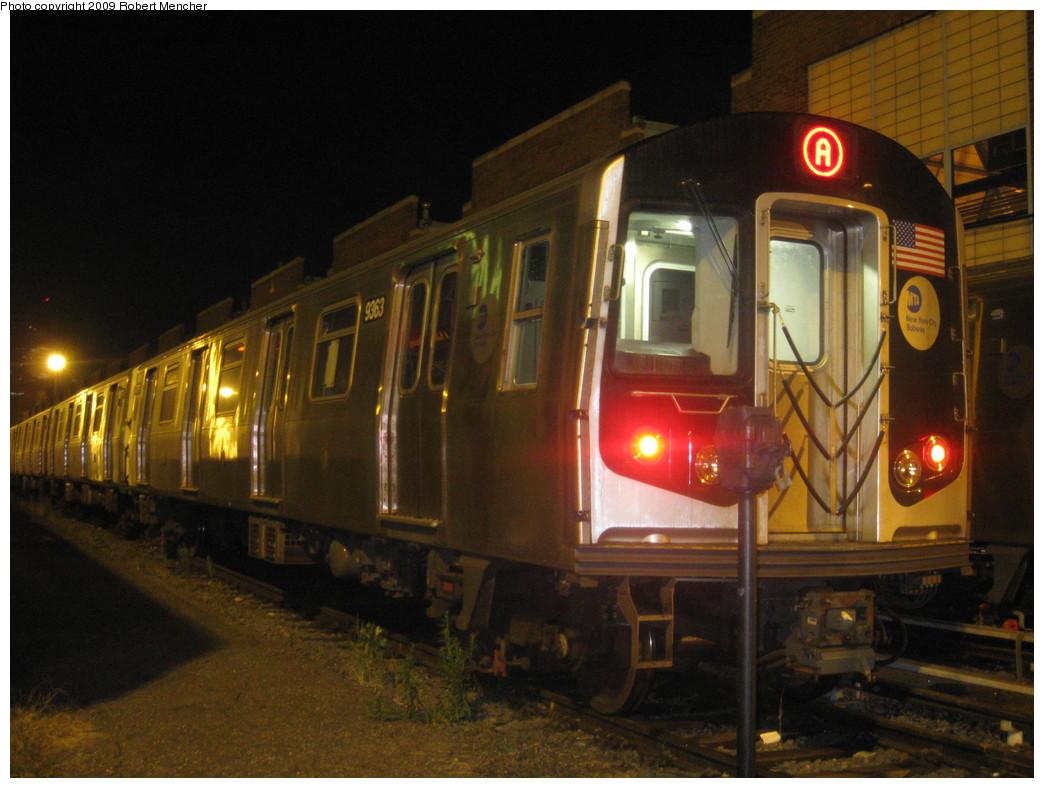 (205k, 1044x788)<br><b>Country:</b> United States<br><b>City:</b> New York<br><b>System:</b> New York City Transit<br><b>Location:</b> Jamaica Yard/Shops<br><b>Car:</b> R-160A (Option 1) (Alstom, 2008-2009, 5 car sets)  9363 <br><b>Photo by:</b> Robert Mencher<br><b>Date:</b> 11/3/2009<br><b>Viewed (this week/total):</b> 0 / 1516