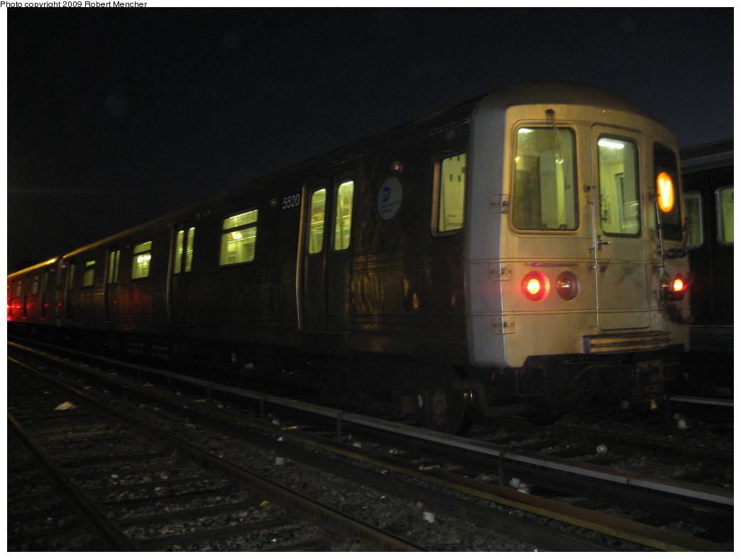 (163k, 1044x788)<br><b>Country:</b> United States<br><b>City:</b> New York<br><b>System:</b> New York City Transit<br><b>Location:</b> Jamaica Yard/Shops<br><b>Car:</b> R-46 (Pullman-Standard, 1974-75) 5520 <br><b>Photo by:</b> Robert Mencher<br><b>Date:</b> 11/3/2009<br><b>Viewed (this week/total):</b> 0 / 942