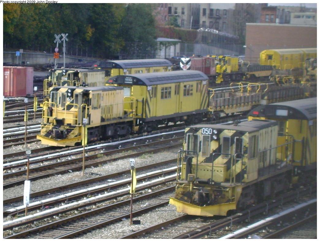 (262k, 1044x788)<br><b>Country:</b> United States<br><b>City:</b> New York<br><b>System:</b> New York City Transit<br><b>Location:</b> 36th Street Yard<br><b>Car:</b> R-37 Locomotive  50 <br><b>Photo by:</b> John Dooley<br><b>Date:</b> 11/4/2009<br><b>Viewed (this week/total):</b> 0 / 937