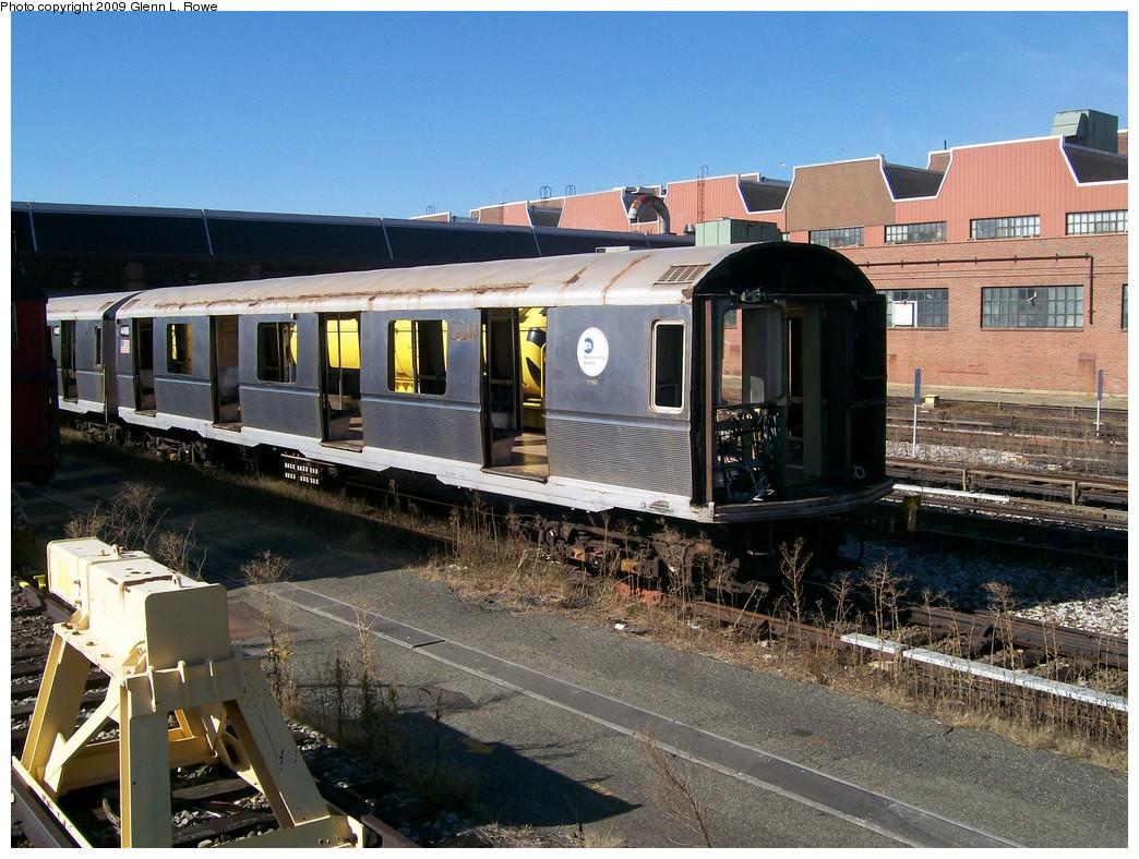 (259k, 1044x788)<br><b>Country:</b> United States<br><b>City:</b> New York<br><b>System:</b> New York City Transit<br><b>Location:</b> 207th Street Yard<br><b>Car:</b> R-40M (St. Louis, 1969)  4496 <br><b>Photo by:</b> Glenn L. Rowe<br><b>Date:</b> 10/14/2009<br><b>Notes:</b> Scrap<br><b>Viewed (this week/total):</b> 3 / 755