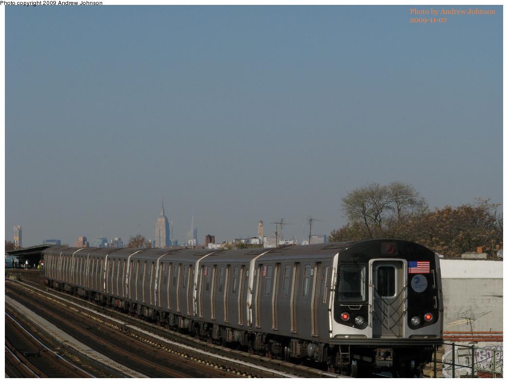 (188k, 1044x788)<br><b>Country:</b> United States<br><b>City:</b> New York<br><b>System:</b> New York City Transit<br><b>Line:</b> BMT Culver Line<br><b>Location:</b> Bay Parkway (22nd Avenue) <br><b>Route:</b> F<br><b>Car:</b> R-160B (Option 1) (Kawasaki, 2008-2009)  9228 <br><b>Photo by:</b> Andrew Johnson<br><b>Date:</b> 11/7/2009<br><b>Viewed (this week/total):</b> 0 / 1059