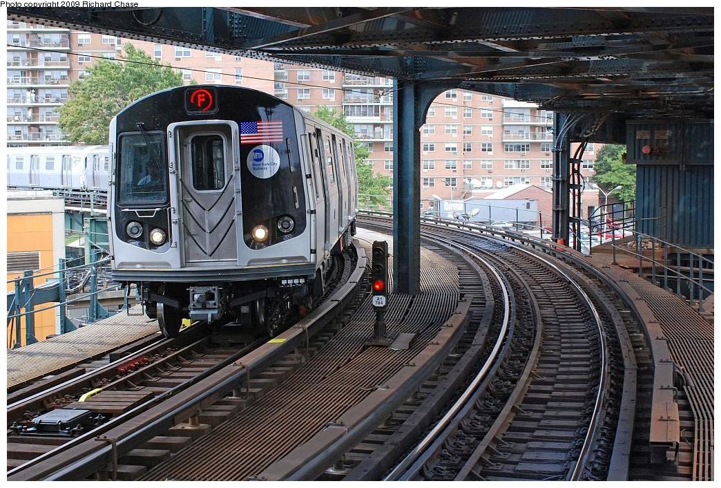 (302k, 1044x706)<br><b>Country:</b> United States<br><b>City:</b> New York<br><b>System:</b> New York City Transit<br><b>Line:</b> BMT Culver Line<br><b>Location:</b> West 8th Street <br><b>Route:</b> F<br><b>Car:</b> R-160A/R-160B Series (Number Unknown)  <br><b>Photo by:</b> Richard Chase<br><b>Date:</b> 10/2009<br><b>Viewed (this week/total):</b> 0 / 1802