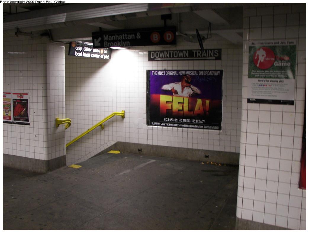 (219k, 1044x788)<br><b>Country:</b> United States<br><b>City:</b> New York<br><b>System:</b> New York City Transit<br><b>Line:</b> IND Concourse Line<br><b>Location:</b> Fordham Road <br><b>Photo by:</b> David-Paul Gerber<br><b>Date:</b> 11/21/2009<br><b>Notes:</b> Underpass to downtown side.<br><b>Viewed (this week/total):</b> 2 / 1242