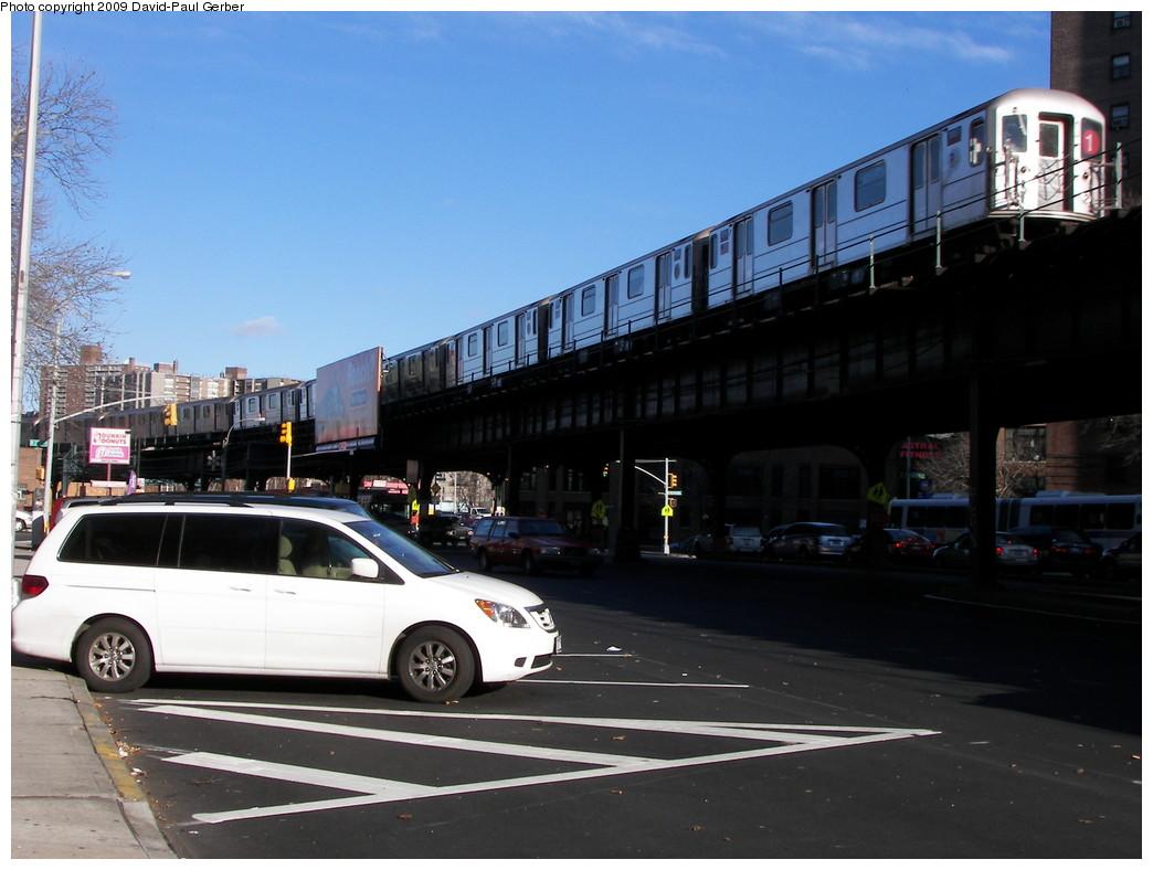 (236k, 1044x788)<br><b>Country:</b> United States<br><b>City:</b> New York<br><b>System:</b> New York City Transit<br><b>Line:</b> IRT West Side Line<br><b>Location:</b> 225th Street <br><b>Photo by:</b> David-Paul Gerber<br><b>Date:</b> 11/28/2009<br><b>Notes:</b> On Broadway near West 228th Street<br><b>Viewed (this week/total):</b> 0 / 1043