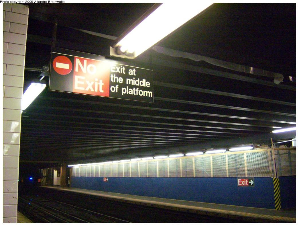 (260k, 1044x788)<br><b>Country:</b> United States<br><b>City:</b> New York<br><b>System:</b> New York City Transit<br><b>Line:</b> IRT West Side Line<br><b>Location:</b> 181st Street <br><b>Photo by:</b> Aliandro Brathwaite<br><b>Date:</b> 8/31/2009<br><b>Notes:</b> Construction wall in place during ceiling work.<br><b>Viewed (this week/total):</b> 0 / 1425