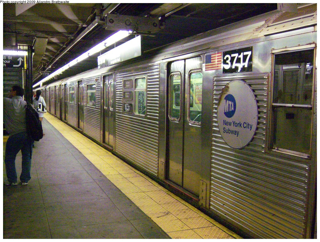 (326k, 1044x788)<br><b>Country:</b> United States<br><b>City:</b> New York<br><b>System:</b> New York City Transit<br><b>Line:</b> IND 8th Avenue Line<br><b>Location:</b> 168th Street <br><b>Route:</b> C<br><b>Car:</b> R-32 (Budd, 1964)  3717 <br><b>Photo by:</b> Aliandro Brathwaite<br><b>Date:</b> 8/31/2009<br><b>Viewed (this week/total):</b> 4 / 1193