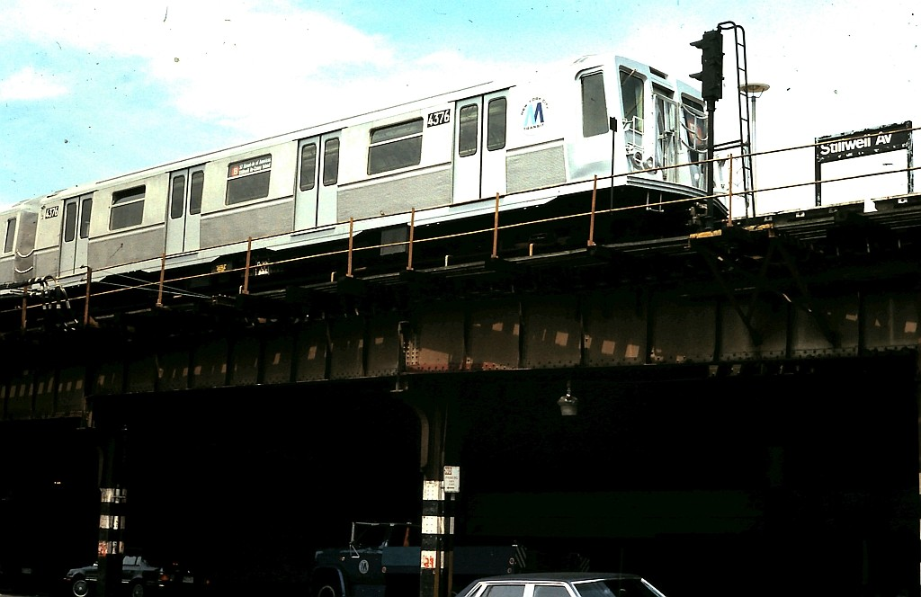 (131k, 1024x664)<br><b>Country:</b> United States<br><b>City:</b> New York<br><b>System:</b> New York City Transit<br><b>Location:</b> Coney Island/Stillwell Avenue<br><b>Route:</b> B<br><b>Car:</b> R-40 (St. Louis, 1968)  4376 <br><b>Collection of:</b> John Barnes<br><b>Date:</b> 6/4/1988<br><b>Viewed (this week/total):</b> 3 / 2466