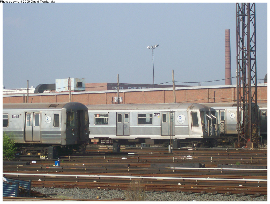 (269k, 1044x788)<br><b>Country:</b> United States<br><b>City:</b> New York<br><b>System:</b> New York City Transit<br><b>Location:</b> Coney Island Yard<br><b>Car:</b> R-40 (St. Louis, 1968)  4406 <br><b>Photo by:</b> David Tropiansky<br><b>Date:</b> 6/7/2008<br><b>Viewed (this week/total):</b> 1 / 697