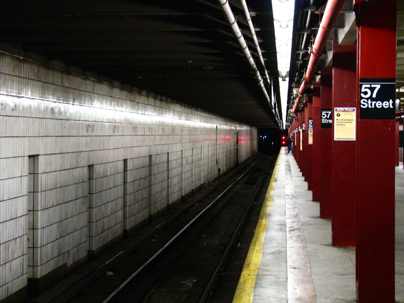 (94k, 800x600)<br><b>Country:</b> United States<br><b>City:</b> New York<br><b>System:</b> New York City Transit<br><b>Line:</b> IND 6th Avenue Line<br><b>Location:</b> 57th Street <br><b>Photo by:</b> Bill E.<br><b>Date:</b> 11/27/2009<br><b>Viewed (this week/total):</b> 2 / 1414