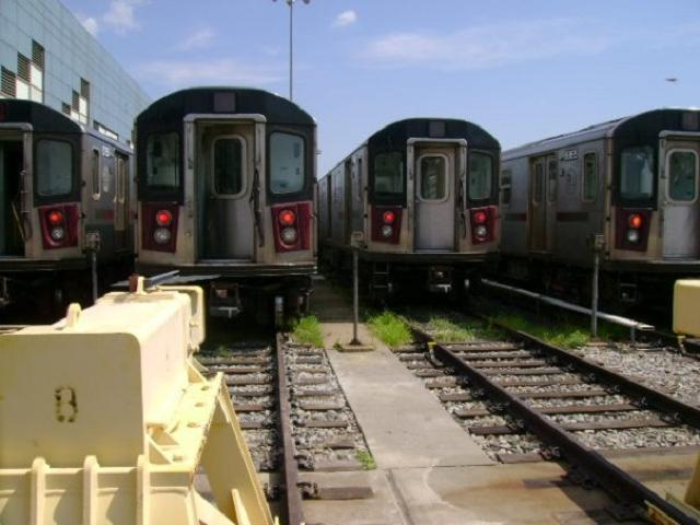 (42k, 640x480)<br><b>Country:</b> United States<br><b>City:</b> New York<br><b>System:</b> New York City Transit<br><b>Location:</b> East 180th Street Yard<br><b>Car:</b> R-142 or R-142A (Number Unknown)  <br><b>Photo by:</b> SubwayGuy<br><b>Date:</b> 8/10/2008<br><b>Notes:</b> Transit Museum tour.<br><b>Viewed (this week/total):</b> 0 / 1541