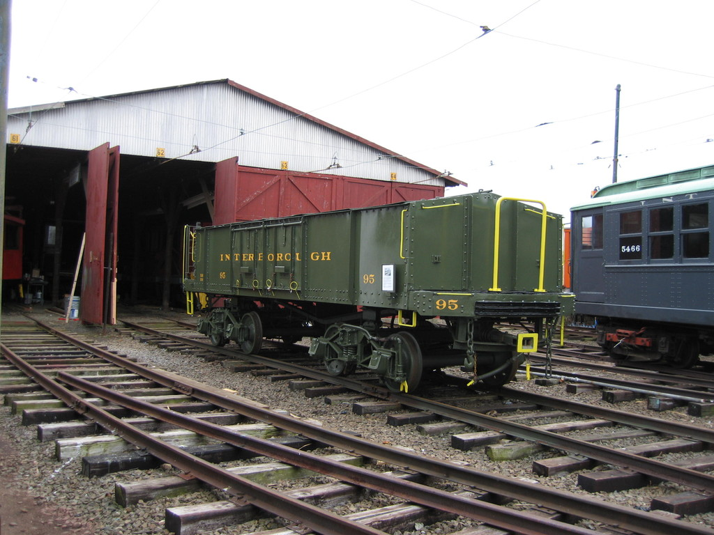 (218k, 1024x768)<br><b>Country:</b> United States<br><b>City:</b> East Haven/Branford, Ct.<br><b>System:</b> Shore Line Trolley Museum <br><b>Car:</b> IRT Covered Hopper 95 <br><b>Photo by:</b> Frank Pfuhler<br><b>Date:</b> 12/2/2009<br><b>Notes:</b> Being restored at Shore Line Trolley Museum<br><b>Viewed (this week/total):</b> 1 / 707