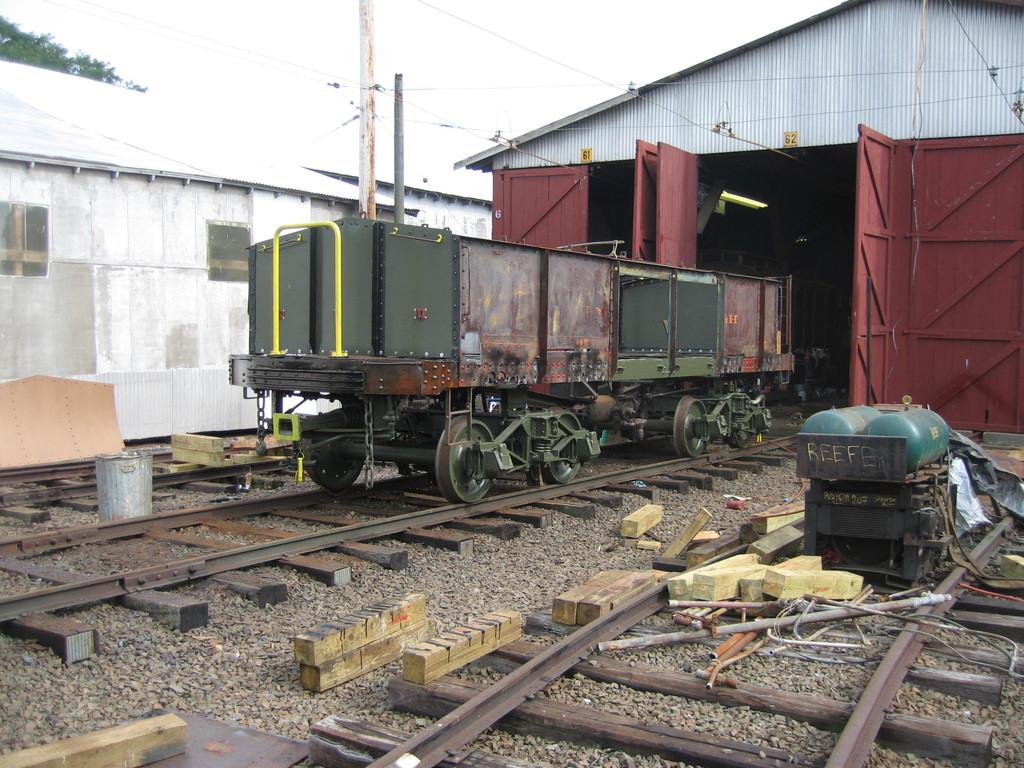 (267k, 1024x768)<br><b>Country:</b> United States<br><b>City:</b> East Haven/Branford, Ct.<br><b>System:</b> Shore Line Trolley Museum <br><b>Car:</b> IRT Covered Hopper 95 <br><b>Photo by:</b> Frank Pfuhler<br><b>Date:</b> 9/8/2009<br><b>Notes:</b> Being restored at Shore Line Trolley Museum<br><b>Viewed (this week/total):</b> 2 / 696