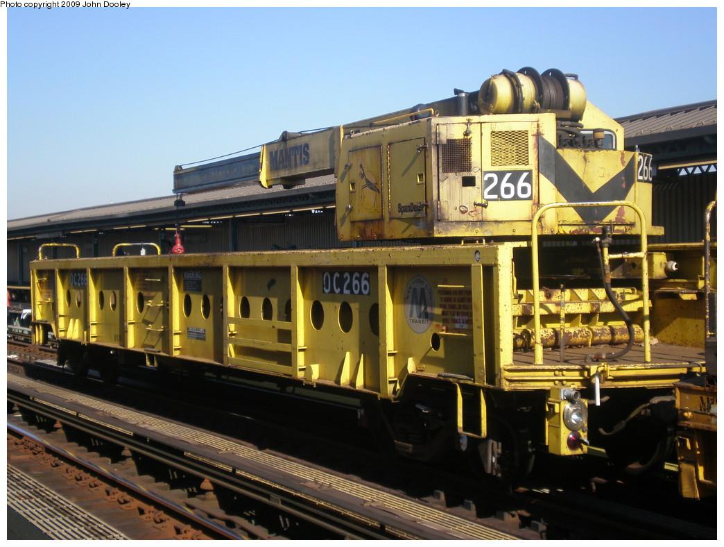 (238k, 1044x788)<br><b>Country:</b> United States<br><b>City:</b> New York<br><b>System:</b> New York City Transit<br><b>Line:</b> BMT West End Line<br><b>Location:</b> 50th Street <br><b>Route:</b> Work Service<br><b>Car:</b> R-113 Crane Car  266 <br><b>Photo by:</b> John Dooley<br><b>Date:</b> 11/8/2009<br><b>Viewed (this week/total):</b> 0 / 701