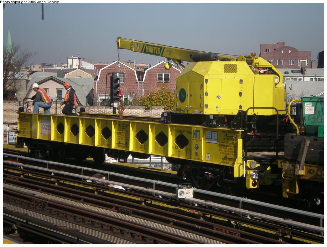 (265k, 1044x788)<br><b>Country:</b> United States<br><b>City:</b> New York<br><b>System:</b> New York City Transit<br><b>Line:</b> BMT West End Line<br><b>Location:</b> 50th Street <br><b>Route:</b> Work Service<br><b>Car:</b> R-162 Crane Car  282 <br><b>Photo by:</b> John Dooley<br><b>Date:</b> 11/8/2009<br><b>Viewed (this week/total):</b> 0 / 726