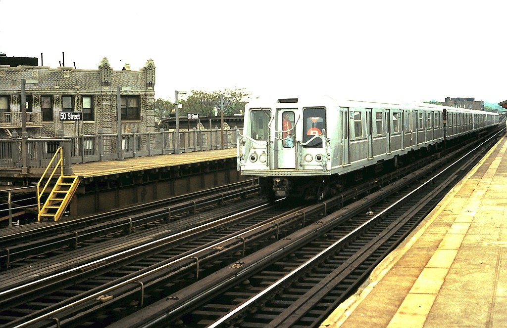 (205k, 1024x664)<br><b>Country:</b> United States<br><b>City:</b> New York<br><b>System:</b> New York City Transit<br><b>Line:</b> BMT West End Line<br><b>Location:</b> 50th Street <br><b>Route:</b> B<br><b>Car:</b> R-40 (St. Louis, 1968)  4436 <br><b>Collection of:</b> John Barnes<br><b>Date:</b> 5/21/1988<br><b>Viewed (this week/total):</b> 4 / 2589