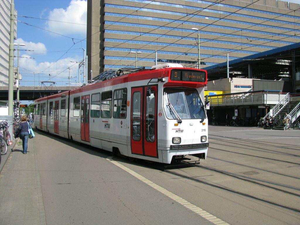 (142k, 1024x768)<br><b>Country:</b> The Netherlands<br><b>City:</b> The Hague<br><b>System:</b> HTM (Haagsche Tramweg Maatschappij) <br><b>Location:</b> Rijnstraat <br><b>Route:</b> 9<br><b>Car:</b> HTM GLT-8-2  3116  <br><b>Photo by:</b> Jos Straathof<br><b>Date:</b> 5/23/2009<br><b>Viewed (this week/total):</b> 0 / 406