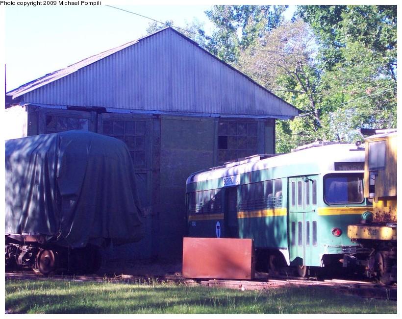 (176k, 820x651)<br><b>Country:</b> United States<br><b>City:</b> Kennebunk, ME<br><b>System:</b> Seashore Trolley Museum <br><b>Car:</b> MBTA/BSRy PCC Dallas Double End (Pullman-Standard, 1945)  3343 <br><b>Photo by:</b> Michael Pompili<br><b>Date:</b> 9/1/2001<br><b>Viewed (this week/total):</b> 0 / 541