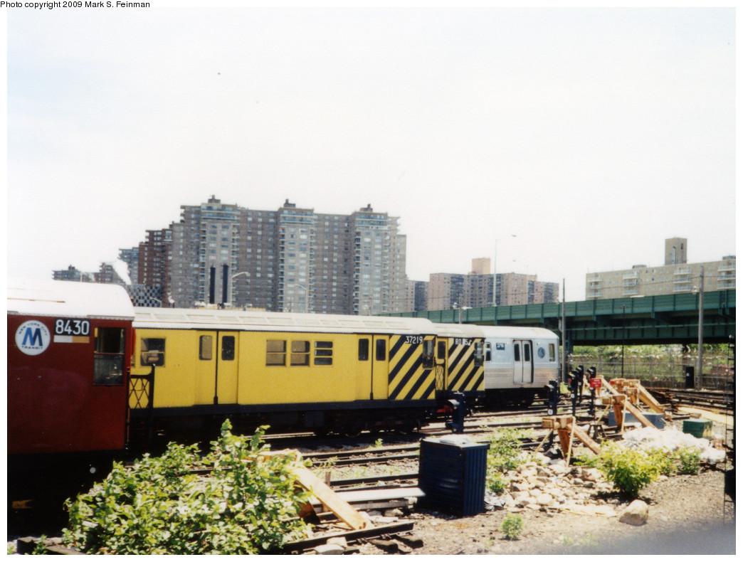 (228k, 1044x790)<br><b>Country:</b> United States<br><b>City:</b> New York<br><b>System:</b> New York City Transit<br><b>Location:</b> Coney Island Yard<br><b>Car:</b> R-21 (St. Louis, 1956-57) 37219 <br><b>Photo by:</b> Mark S. Feinman<br><b>Date:</b> 5/30/1993<br><b>Viewed (this week/total):</b> 3 / 942