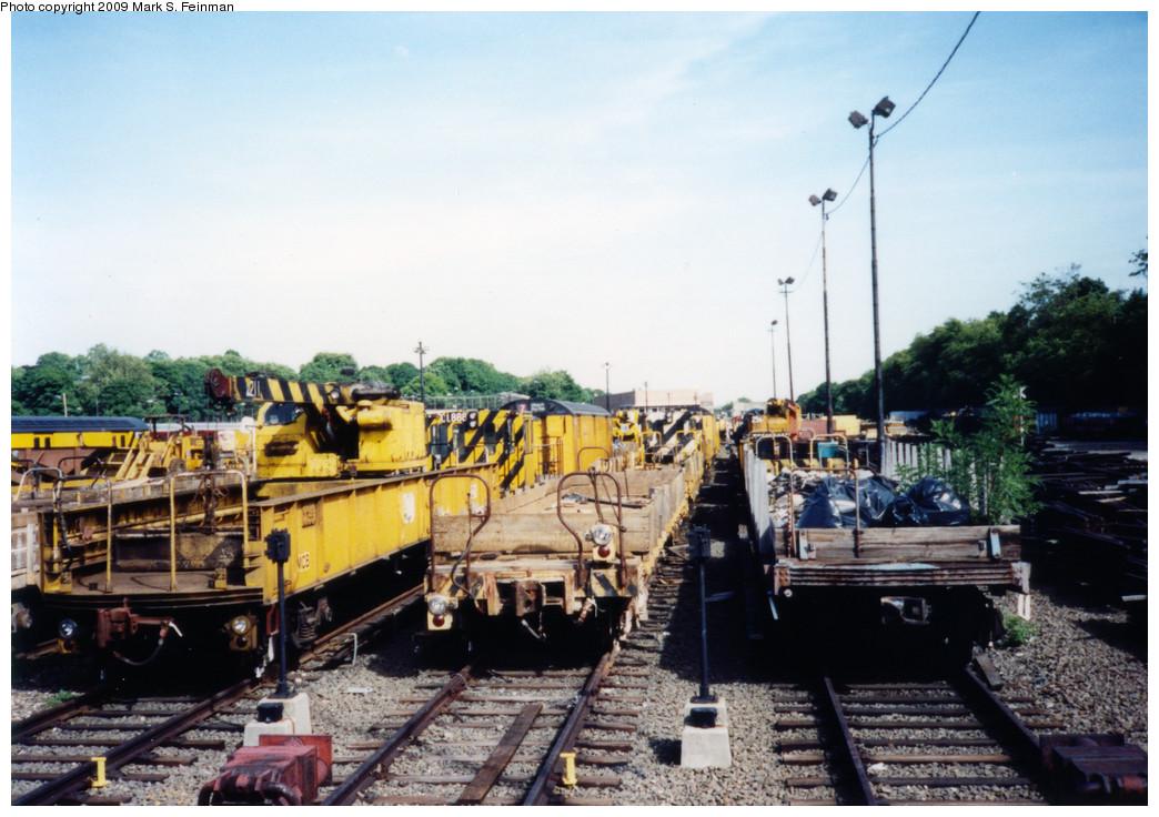 (239k, 1044x736)<br><b>Country:</b> United States<br><b>City:</b> New York<br><b>System:</b> New York City Transit<br><b>Location:</b> 36th Street Yard<br><b>Car:</b> Flat Car  <br><b>Photo by:</b> Mark S. Feinman<br><b>Date:</b> 5/30/1993<br><b>Viewed (this week/total):</b> 1 / 961