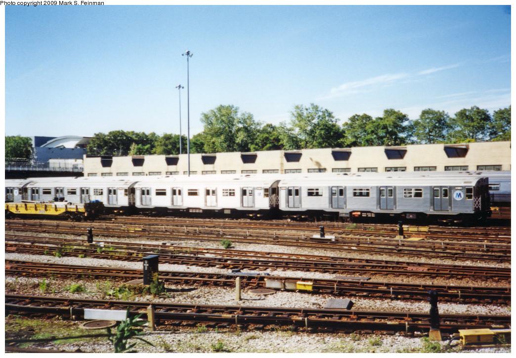 (314k, 1044x724)<br><b>Country:</b> United States<br><b>City:</b> New York<br><b>System:</b> New York City Transit<br><b>Location:</b> Concourse Yard<br><b>Car:</b> R-32 (Budd, 1964)  3380-3381 <br><b>Photo by:</b> Mark S. Feinman<br><b>Date:</b> 1993<br><b>Viewed (this week/total):</b> 1 / 1391