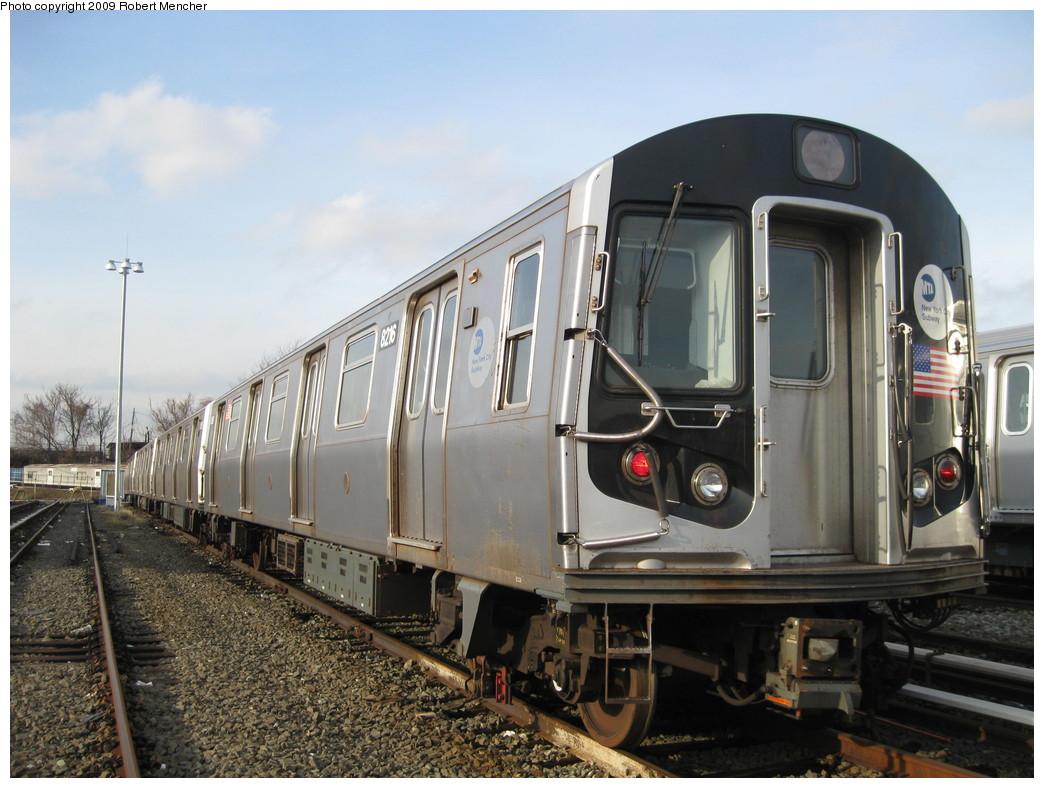 (217k, 1044x788)<br><b>Country:</b> United States<br><b>City:</b> New York<br><b>System:</b> New York City Transit<br><b>Location:</b> East New York Yard/Shops<br><b>Car:</b> R-143 (Kawasaki, 2001-2002) 8216 <br><b>Photo by:</b> Robert Mencher<br><b>Date:</b> 12/14/2009<br><b>Viewed (this week/total):</b> 0 / 620