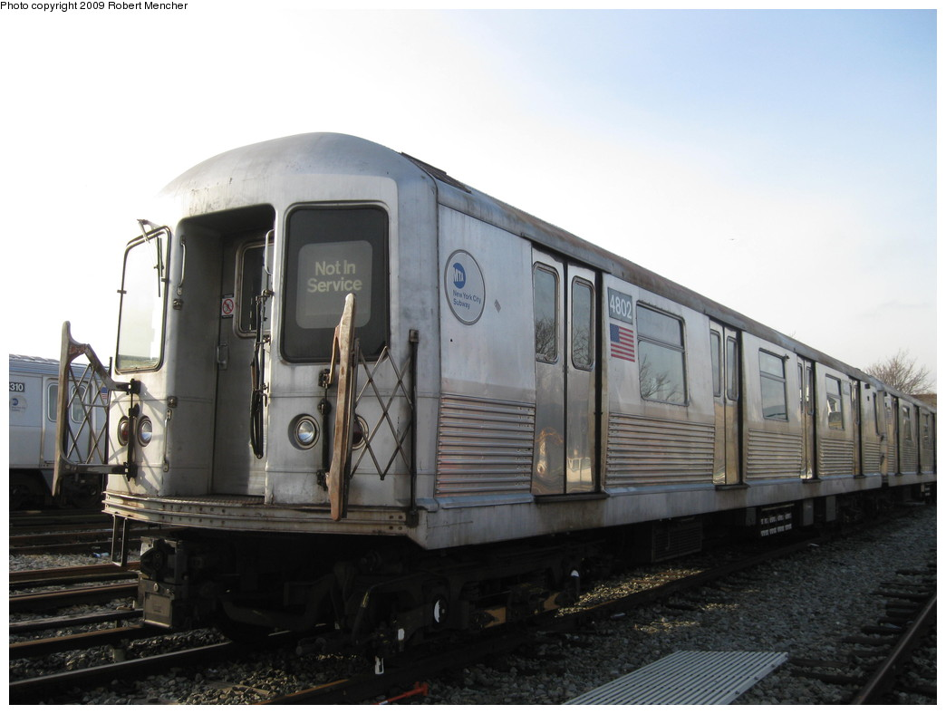 (167k, 1044x788)<br><b>Country:</b> United States<br><b>City:</b> New York<br><b>System:</b> New York City Transit<br><b>Location:</b> East New York Yard/Shops<br><b>Car:</b> R-42 (St. Louis, 1969-1970)  4802 <br><b>Photo by:</b> Robert Mencher<br><b>Date:</b> 12/14/2009<br><b>Viewed (this week/total):</b> 0 / 576