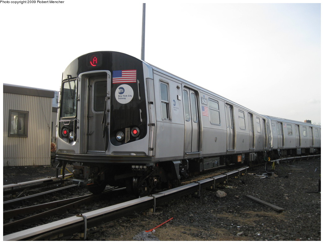 (171k, 1044x788)<br><b>Country:</b> United States<br><b>City:</b> New York<br><b>System:</b> New York City Transit<br><b>Location:</b> East New York Yard/Shops<br><b>Car:</b> R-160A-1 (Alstom, 2005-2008, 4 car sets)  8428 <br><b>Photo by:</b> Robert Mencher<br><b>Date:</b> 12/14/2009<br><b>Viewed (this week/total):</b> 1 / 807