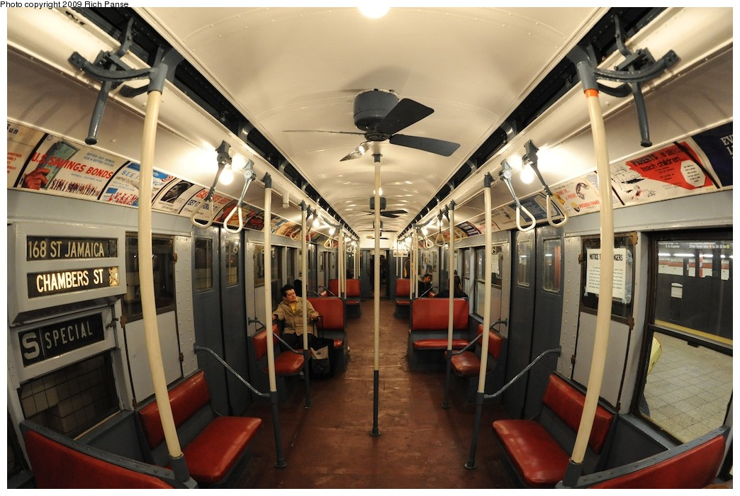(199k, 1044x700)<br><b>Country:</b> United States<br><b>City:</b> New York<br><b>System:</b> New York City Transit<br><b>Route:</b> Museum Train Service (V)<br><b>Car:</b> R-9 (Pressed Steel, 1940)  1802 <br><b>Photo by:</b> Richard Panse<br><b>Date:</b> 12/13/2009<br><b>Viewed (this week/total):</b> 11 / 1818