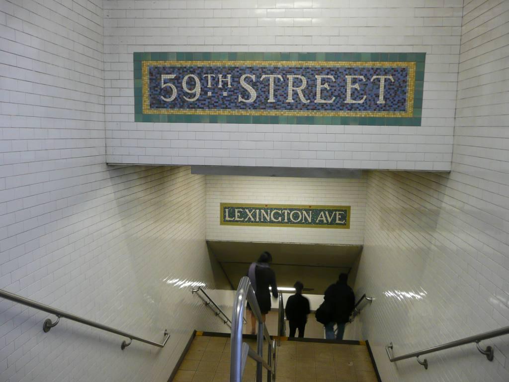 (109k, 1024x768)<br><b>Country:</b> United States<br><b>City:</b> New York<br><b>System:</b> New York City Transit<br><b>Line:</b> IRT East Side Line<br><b>Location:</b> 59th Street <br><b>Photo by:</b> Robbie Rosenfeld<br><b>Date:</b> 12/8/2009<br><b>Notes:</b> Mosaics in stairway.<br><b>Viewed (this week/total):</b> 1 / 1448
