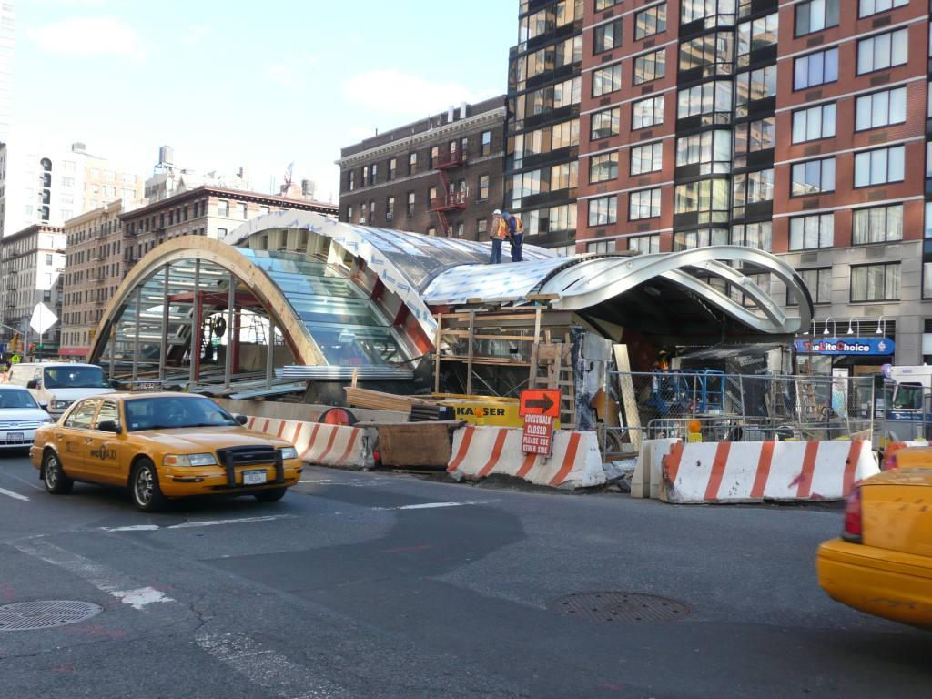 (153k, 1024x768)<br><b>Country:</b> United States<br><b>City:</b> New York<br><b>System:</b> New York City Transit<br><b>Line:</b> IRT West Side Line<br><b>Location:</b> 96th Street <br><b>Photo by:</b> Robbie Rosenfeld<br><b>Date:</b> 12/10/2009<br><b>Notes:</b> Construction of new headhouse.<br><b>Viewed (this week/total):</b> 1 / 828