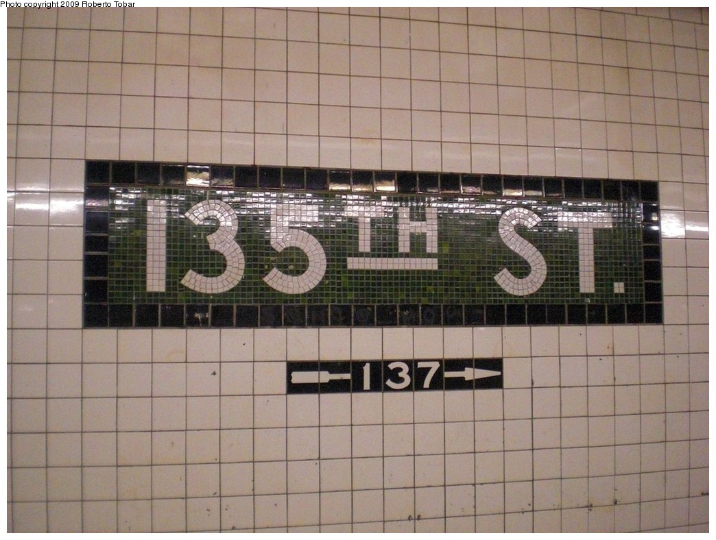 (246k, 1044x788)<br><b>Country:</b> United States<br><b>City:</b> New York<br><b>System:</b> New York City Transit<br><b>Line:</b> IND 8th Avenue Line<br><b>Location:</b> 135th Street <br><b>Photo by:</b> Roberto C. Tobar<br><b>Date:</b> 12/19/2009<br><b>Viewed (this week/total):</b> 0 / 1108