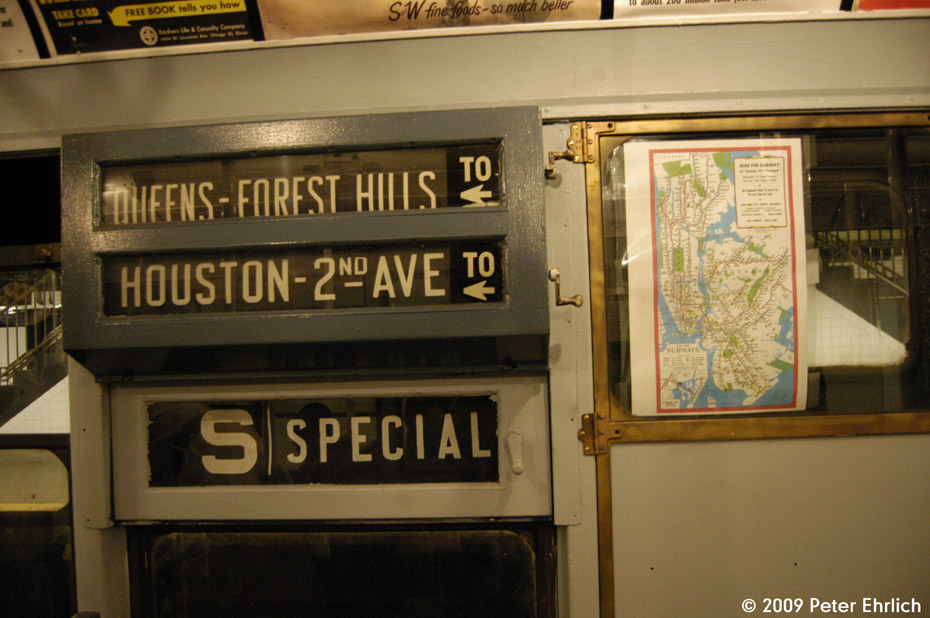 (167k, 930x618)<br><b>Country:</b> United States<br><b>City:</b> New York<br><b>System:</b> New York City Transit<br><b>Car:</b> R-6-3 (American Car & Foundry, 1935)  1000 <br><b>Photo by:</b> Peter Ehrlich<br><b>Date:</b> 12/13/2009<br><b>Notes:</b> Rollsigns and map.<br><b>Viewed (this week/total):</b> 1 / 786